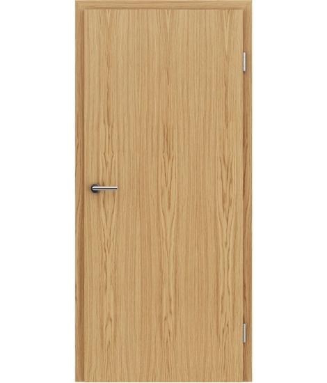 Furnirana unutrašnja vrata s uspravnom strukturom GREENline - hrast evropski natur lakiran