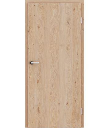 Furnirana unutrašnja vrata s uspravnom strukturom GREENline - hrast grča bijeli uljeni