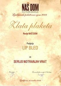 Picture of Zlatna plaketa revije NAŠ DOM - kultura života