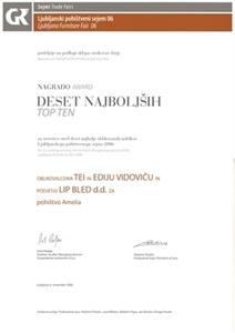 Picture of 3 nagrade za program pokućstva od masivnog drveta AMELIA 2006