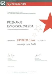 Picture of 1. nagrada Europska zvijezda 2009. - multifunkcionalno krilo i okvir javor Grafit