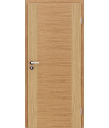 furnirana notranja vrata s kombinirano pokončno in prečno strukturo VIVACEline - F1 hrast evropski natur lakiran
