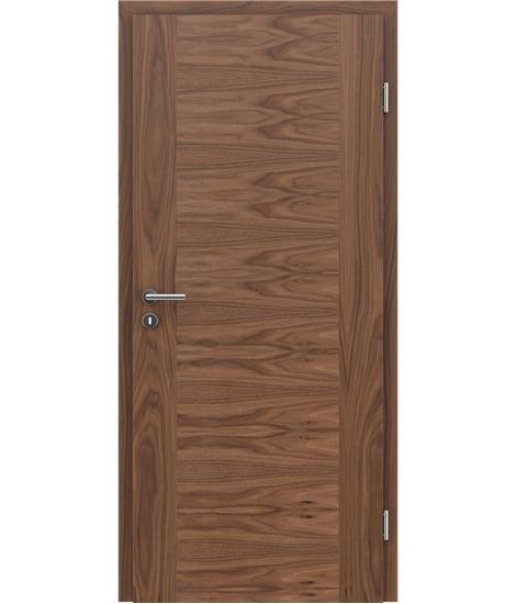 Furnirana unutrašnja vrata s uspravnom i/ili poprečnom strukturom VIVACEline - F1 orah