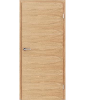 furnirana notranja vrata s kombinirano pokončno in prečno strukturo VIVACEline - F4 hrast evropski krtačen natur lakiran