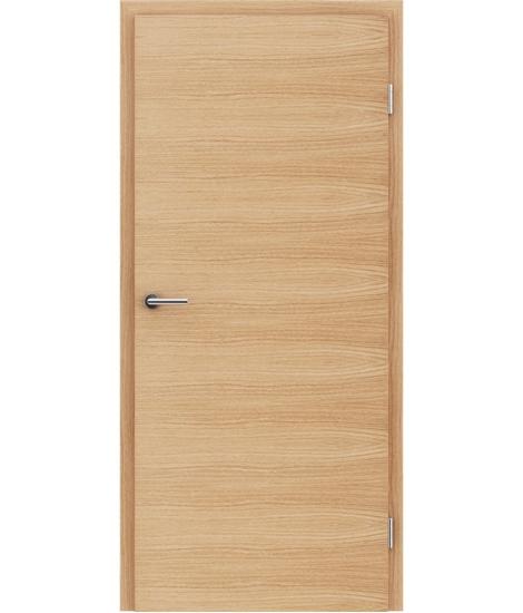 Furnirana unutrašnja vrata s uspravnom i/ili poprečnom strukturom VIVACEline - F4 hrast europski brušeni natur lakirani