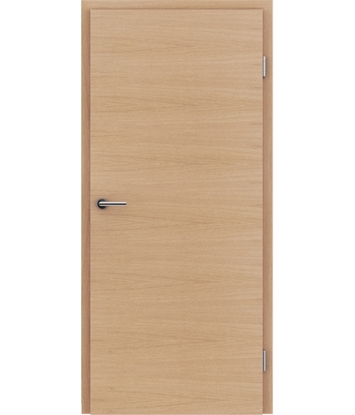 furnirana notranja vrata s kombinirano pokončno in prečno strukturo VIVACEline - F4 hrast evropski mat lužen lakiran