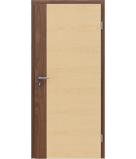 Furnirana unutrašnja vrata s uspravnom i/ili poprečnom strukturom VIVACEline - F5 orah umetak javor