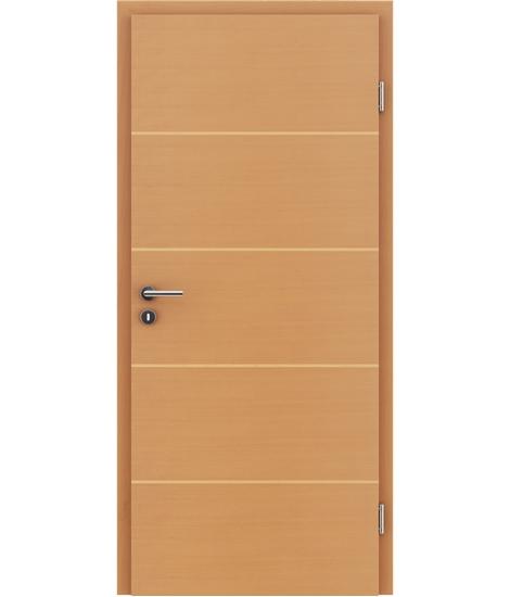Furnirana unutrašnja vrata s uspravnom i/ili poprečnom strukturom VIVACEline - F11 bukva umetak javor