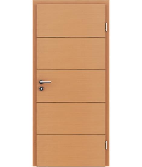 Furnirana unutrašnja vrata s uspravnom i/ili poprečnom strukturom VIVACEline - F11 bukva umetak orah