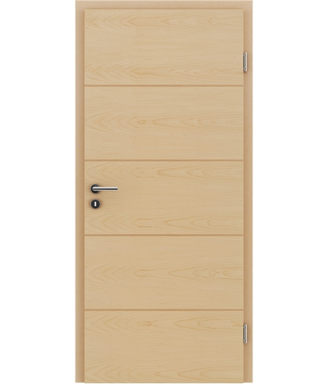 Furnirana unutrašnja vrata s uspravnom i/ili poprečnom strukturom VIVACEline - F11 javor umetak bukva