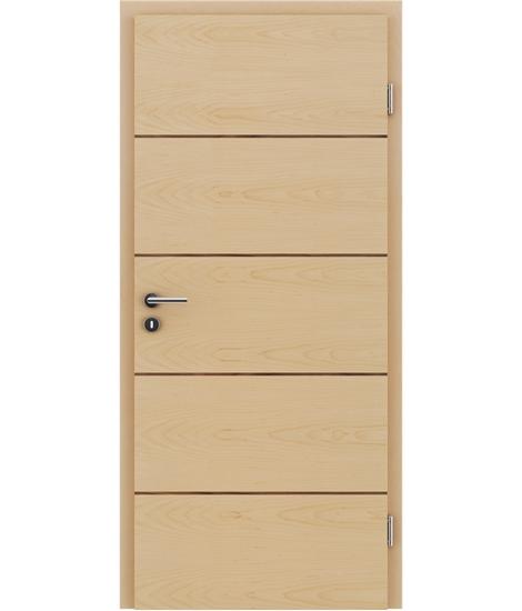 Furnirana unutrašnja vrata s uspravnom i/ili poprečnom strukturom VIVACEline - F11 javor umetak orah
