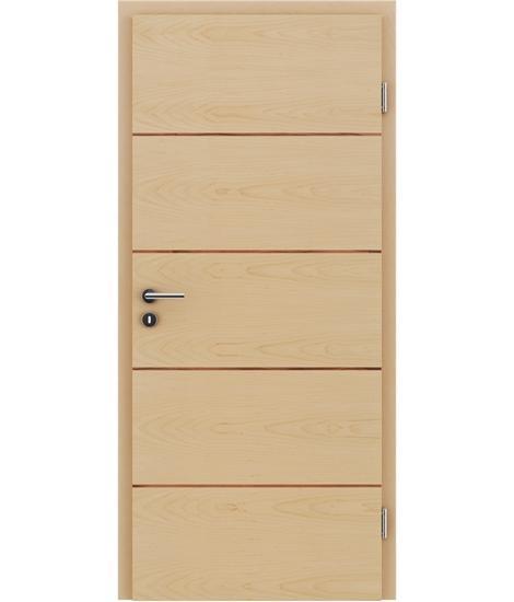 Furnirana unutrašnja vrata s uspravnom i/ili poprečnom strukturom VIVACEline - F11 javor, umetak od indijske jabuke