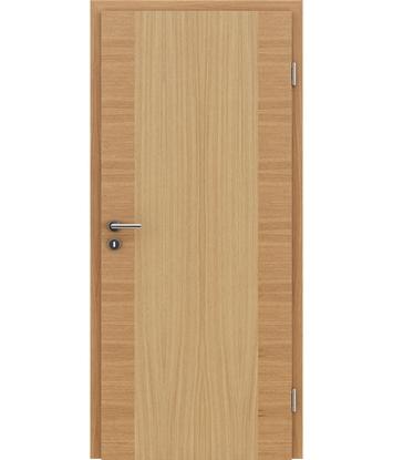 Furnirana unutrašnja vrata s uspravnom i/ili poprečnom strukturom VIVACEline - F14 hrast europski natur lakirani