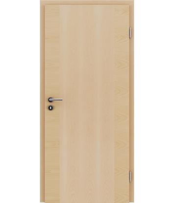 furnirana notranja vrata s kombinirano pokončno in prečno strukturo VIVACEline - F14 javor