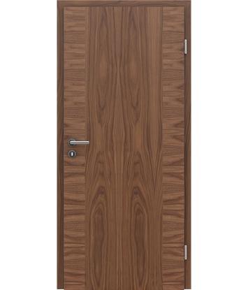 furnirana notranja vrata s kombinirano pokončno in prečno strukturo VIVACEline - F14 oreh