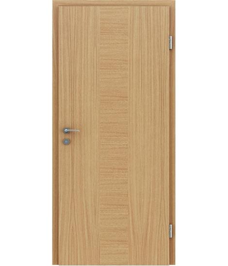 Furnirana unutrašnja vrata s uspravnom i/ili poprečnom strukturom VIVACEline - F40 hrast umetak hrast