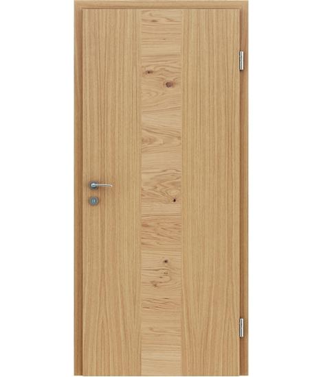Furnirana unutrašnja vrata s uspravnom i/ili poprečnom strukturom VIVACEline - F40 hrast umetak hrast grča