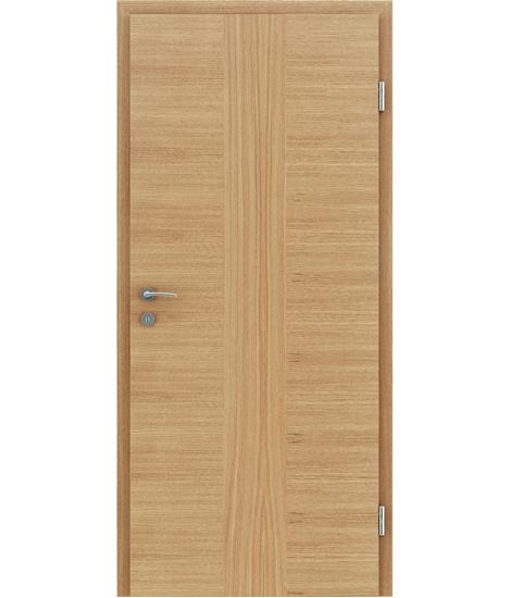 Furnirana unutrašnja vrata s uspravnom i/ili poprečnom strukturom VIVACEline - F41 hrast umetak hrast