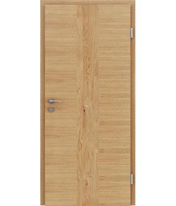 Furnirana unutrašnja vrata s uspravnom i/ili poprečnom strukturom VIVACEline - F41 hrast umetak hrast grča