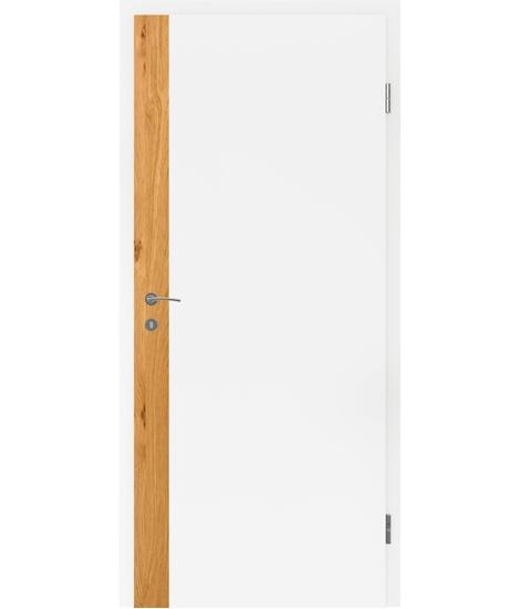 Bijelo obojena unutrašnja vrata s uspravnim furniranim umetcima i utorom BELLAline - F5R33L bijelo obojeno, umetak hrast grča