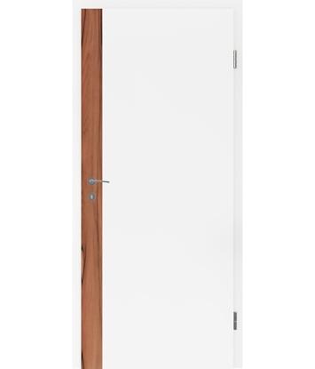 Bijelo obojena unutrašnja vrata s uspravnim furniranim umetcima i utorom BELLAline - F5R33L bijelo obojeno, umetak od indijske jabuke
