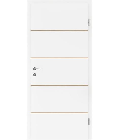 Bijelo obojena unutrašnja vrata s furniranim umetcima BELLAline - FN1 bijelo obojeno, umetak hrast