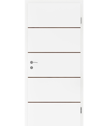 Bijelo obojena unutrašnja vrata s furniranim umetcima BELLAline - FN1 bijelo obojeno, umetak orah