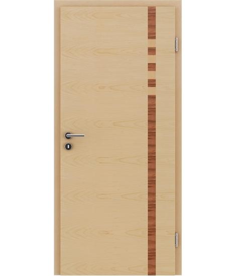Furnirana unutrašnja vrata s intarzijskim umetcima HIGHline - I17 javor, intarzijski umetak od indijske jabuke i javora