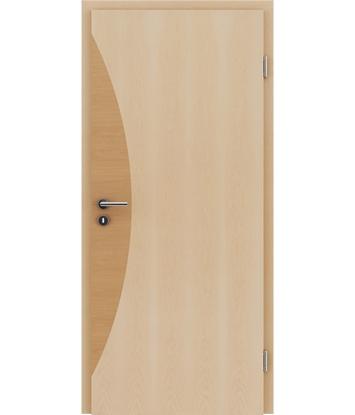 Picture of Furnirana unutrašnja vrata s intarzijskim umetcima HIGHline - I3 javor, intarzijski umetak johe