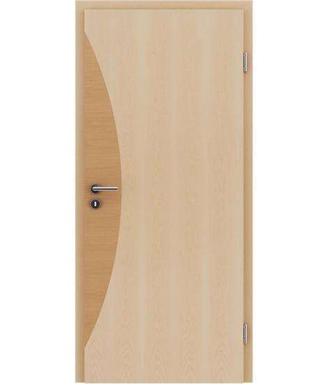 Furnirana unutrašnja vrata s intarzijskim umetcima HIGHline - I3 javor, intarzijski umetak johe