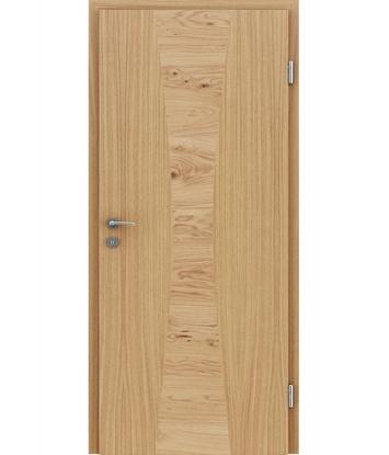 Picture of Furnirana unutrašnja vrata s intarzijskim umetcima HIGHline - I35 hrast europski umetak hrast grča