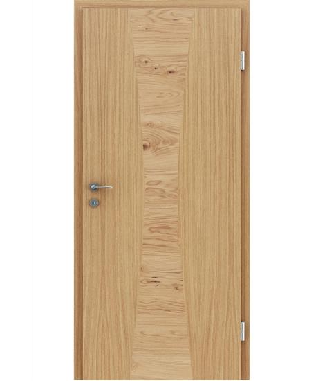 Furnirana unutrašnja vrata s intarzijskim umetcima HIGHline - I35 hrast europski umetak hrast grča