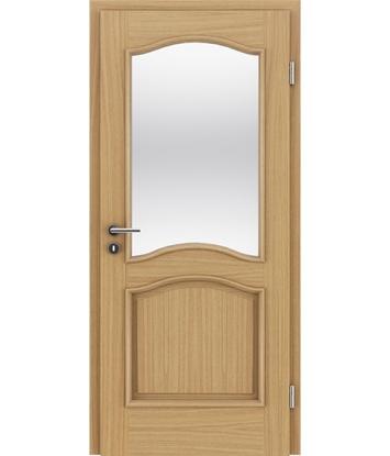 Picture of Furnirana unutrašnja vrata s ukrasnim letvicama in steklom - NAPOLEON STILline - SNC SN3 hrast europski