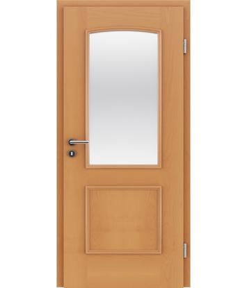 Furnirana unutrašnja vrata s ukrasnim letvicama in steklom STILline - SOA SO3 bukva
