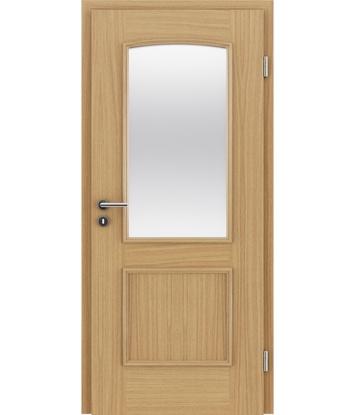 Furnirana unutrašnja vrata s ukrasnim letvicama in steklom STILline - SOA SO3 hrast europski