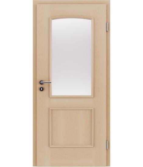 Furnirana unutrašnja vrata s ukrasnim letvicama in steklom STILline - SOA SO3 javor