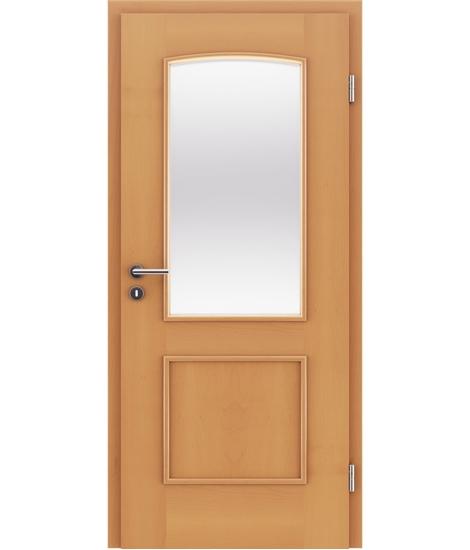 Furnirana unutrašnja vrata s ukrasnim letvicama in steklom STILline - SOAD SO3 bukva