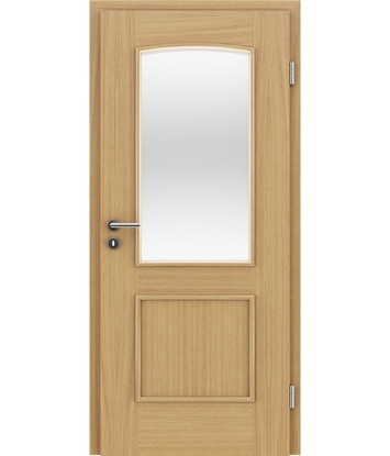 Furnirana unutrašnja vrata s ukrasnim letvicama in steklom STILline - SOAD SO3 hrast europski