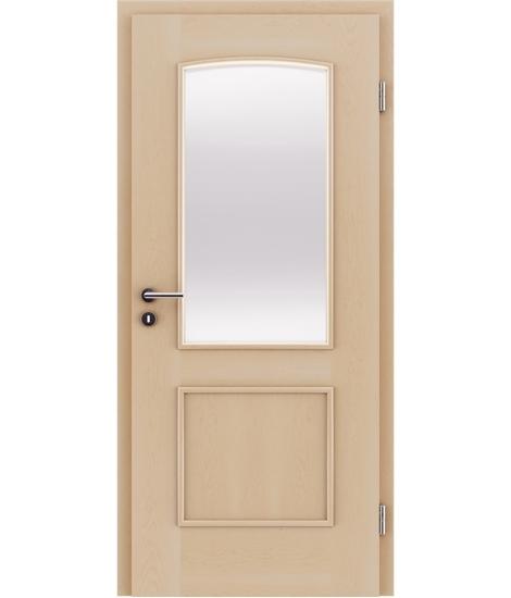 Furnirana unutrašnja vrata s ukrasnim letvicama in steklom STILline - SOAD SO3 javor