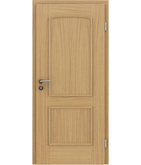 Furnirana unutrašnja vrata s ukrasnim letvicama STILline - SOA hrast evropski