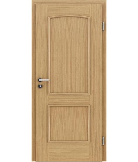 Furnirana unutrašnja vrata s ukrasnim letvicama STILline - SOAD hrast europski