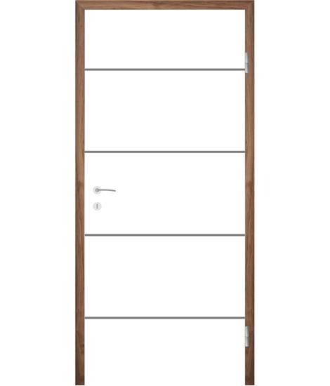 Bijelo obojena unutrašnja vrata s utorima COLORline - EASY R27L