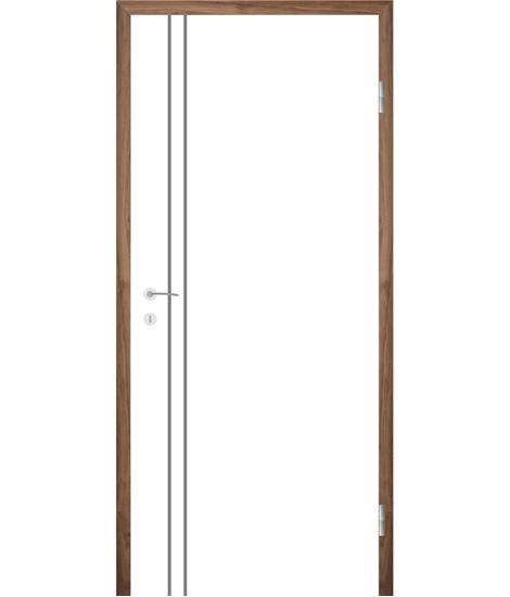 Bijelo obojena unutrašnja vrata s utorima COLORline - EASY R28L