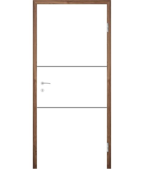 Bijelo obojena unutrašnja vrata s utorima COLORline - EASY R29L