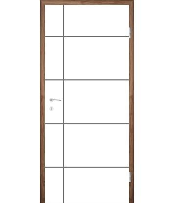 Bijelo obojena unutrašnja vrata s utorima COLORline - EASY R34L