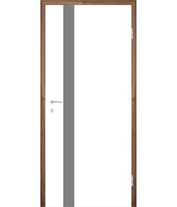 Bijelo obojena unutrašnja vrata s utorima COLORline - MODENA + R25L