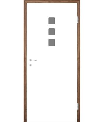 Bijelo obojena unutrašnja vrata s utorima COLORline - MODENA + R26L