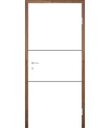 Bijelo obojena unutrašnja vrata s utorima COLORline - MODENA R11L