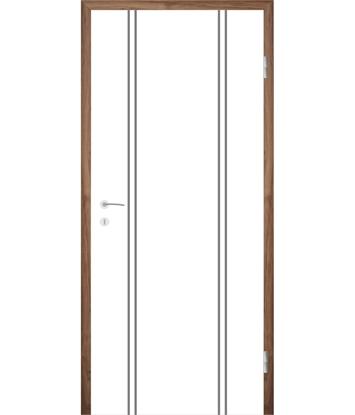 Picture of Bijelo obojena unutrašnja vrata s utorima COLORline - MODENA R12L