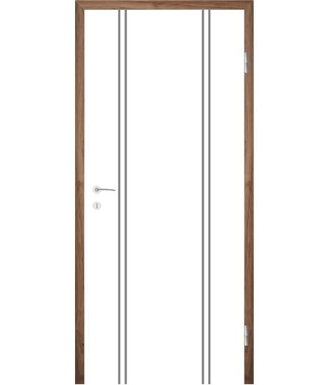 Bijelo obojena unutrašnja vrata s utorima COLORline - MODENA R12L